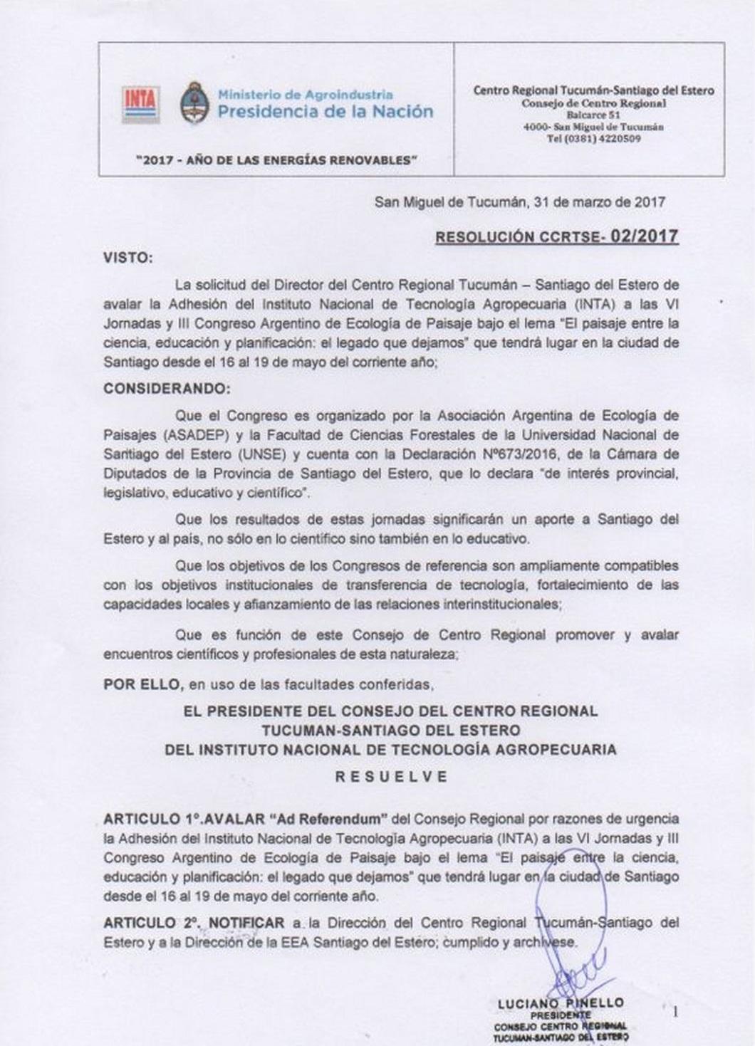 INTA Centro Regional Tucumán-Santiago del Estero