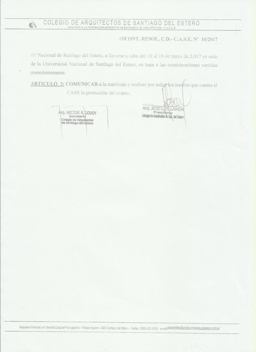 Colegio de Arquitectos de Santiago del Estero (página 2)