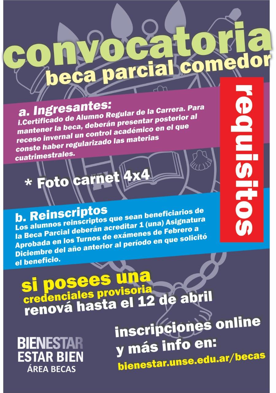 Facultad de Ciencias Forestales UNSE | Convocatoria Beca Parcial ...